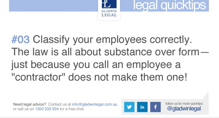 QuickTip: Classify your employees correctly