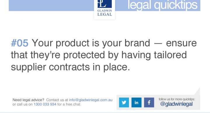 QuickTip: Protect your business with Supplier Contracts