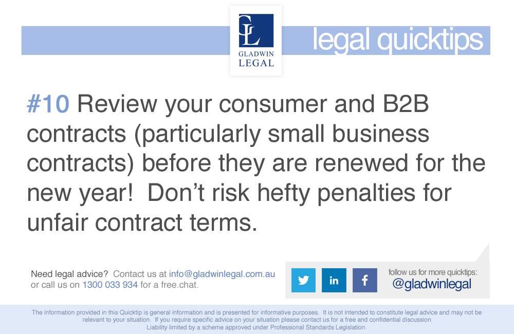 QuickTip: Review your consumer & B2B contracts before year-end