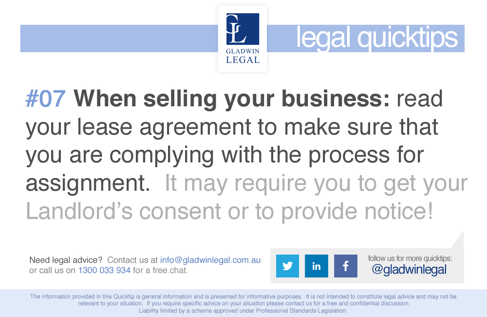 QuickTip: Selling Your Business - Read your lease agreement!