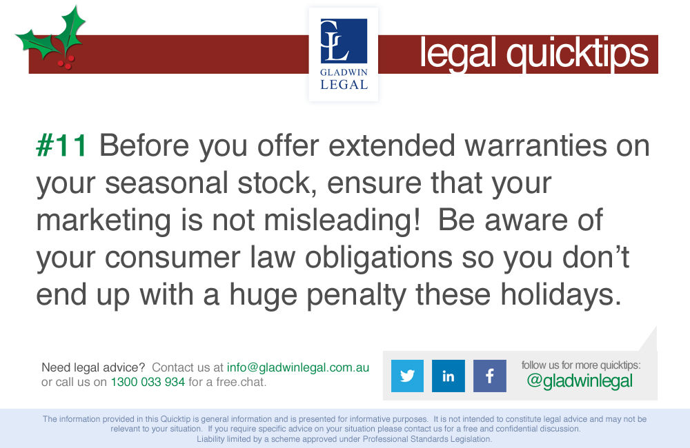 QuickTip: Offering extended warranties