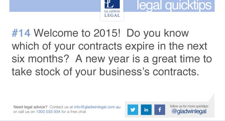 QuickTip: Do you know which of your contracts are expiring
