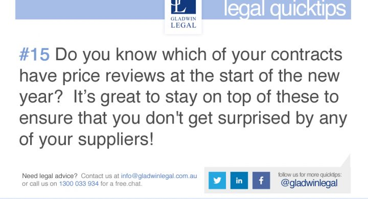 QuickTip: Do you know which of your contracts have price reviews