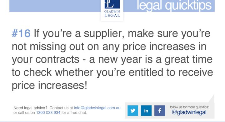 QuickTip: Suppliers missing any price increases?