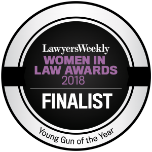 Layers Weekly Women In Law Award - Young Gun of the Year 2018 Finalist