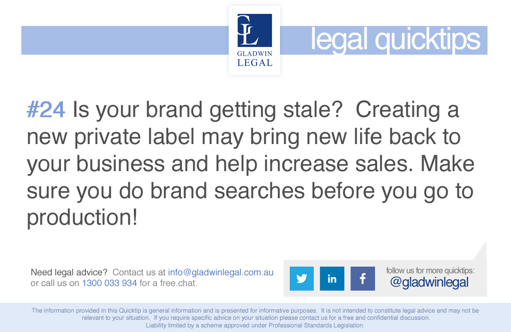 QuickTip: Do brand searches before you launch your private label