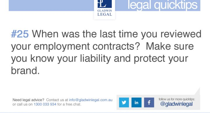 QuickTip: Review your employment contracts
