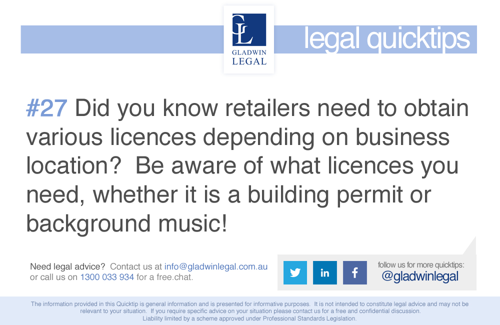 QuickTip: Be aware of what licences you need