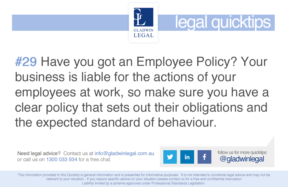 QuickTip: Have an employee policy