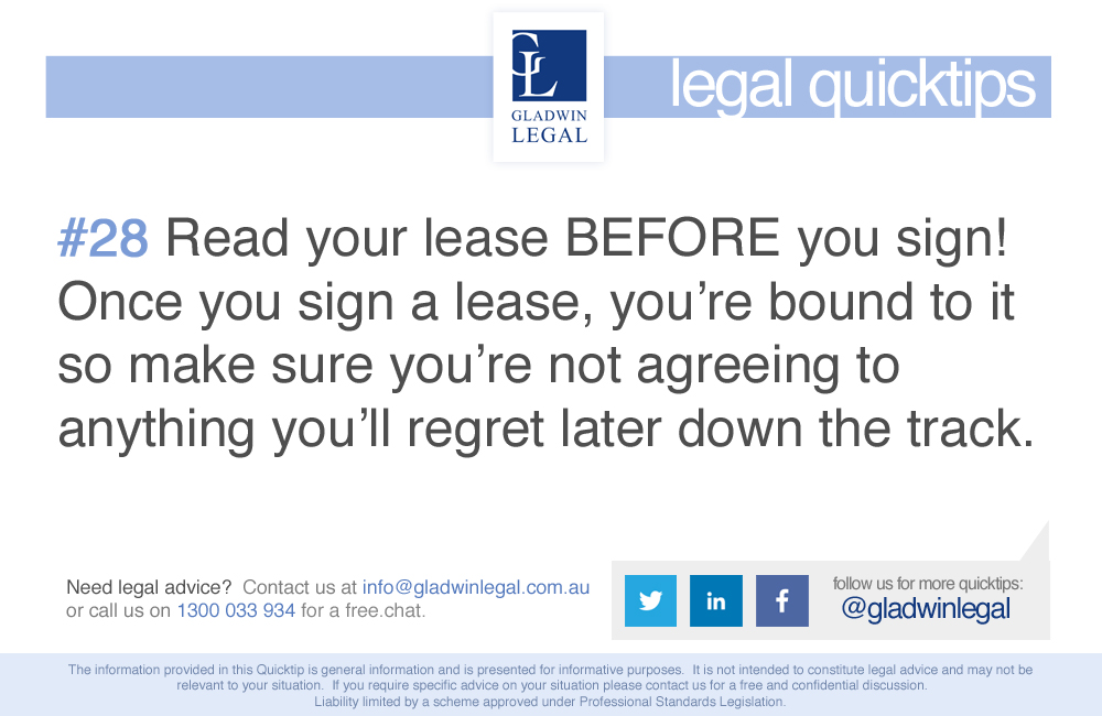 QuickTip: Read your lease
