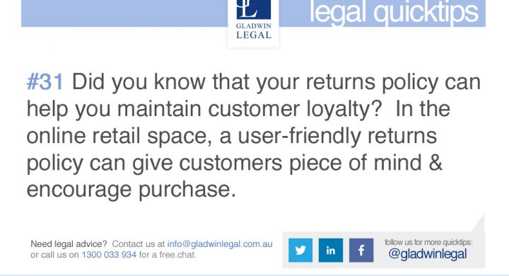 QuickTip: A good returns policy can encourage customer loyalty