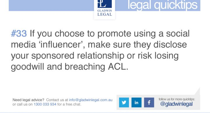 QuickTip: Have influencers disclose