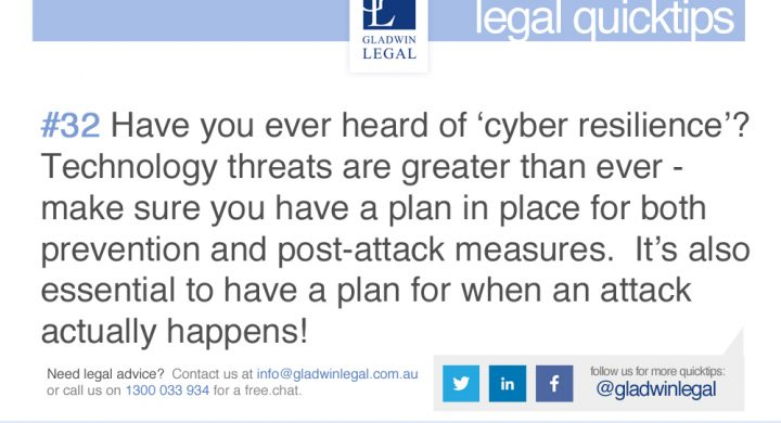 QuickTip: Increase your Cyber Resilience