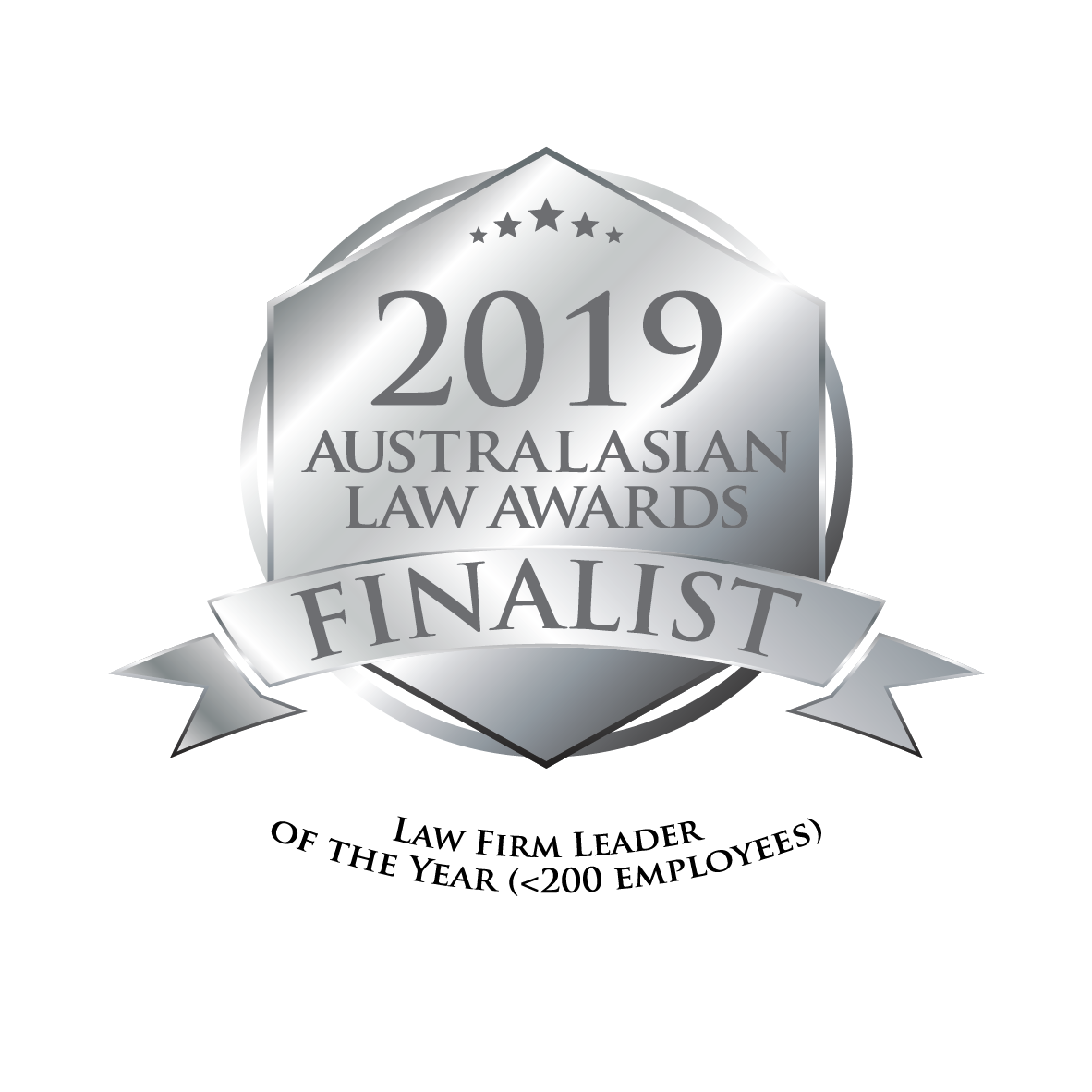 2019 Australasian Law Awards - Finalist - Law Firm Leader of the Year Award (