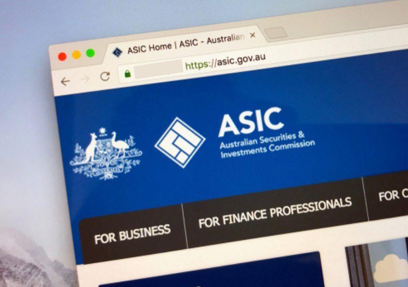 ASIC webpage