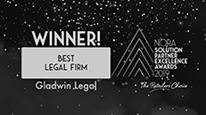 Gladwin Legal marketplace lawyers are the Best Legal Firm winner in NORA Excellence Awards